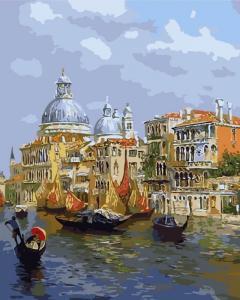 Картина по номерам MG6469 Лазурь Венеции