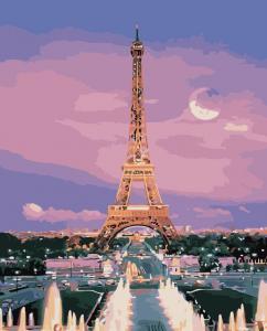 Картина по номерам MG3205 Вид на Эйфелеву башню