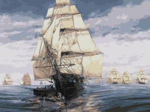 Картина по номерам EX5836 Флотилия