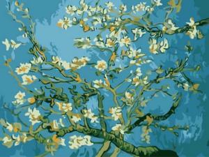 Картина по номерам EX5216 Цветы миндаля