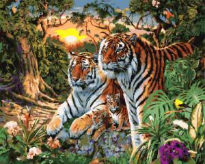Картина по номерам GX7861 Семья тигров