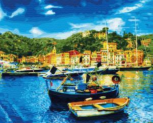 Картина по номерам GX31066 Средиземноморский причал