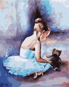 Картина по номерам MG2056 Балерина. Первые шаги