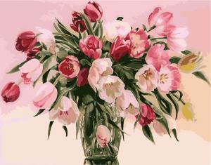 Картина по номерам MG1072 Тюльпаны в вазе