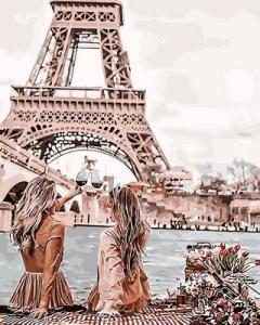 Картина по номерам GX30103 Подружки в Париже