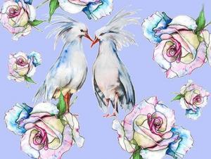 Картина по номерам ME1122 Влюбленные птицы