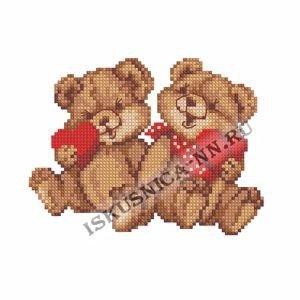 Два медвежонка 12*16 (набор для вышивания крестом)
