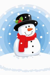 Картина по номерам MC1090 Снеговик