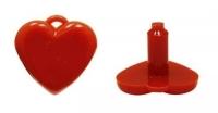 Сердце 2х2 см, 1 шт