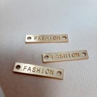 Лейбл Fashion в ассортименте 25х5 мм, металл (золото)