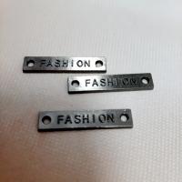 Лейбл Fashion в ассортименте 25х5 мм, металл (никель)
