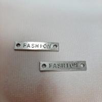 Лейбл Fashion в ассортименте 25х5 мм, металл (серебро)
