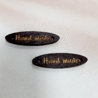 Ярлычки Handmade в ассортименте дерево 7х28 мм (коричневые)