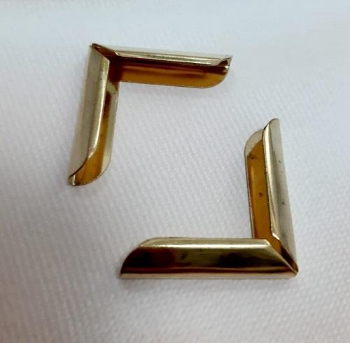 Уголок для портфеля, папки 25х25 мм, золото