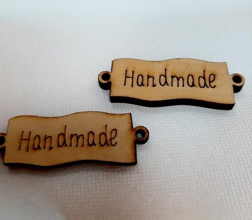 Ярлычки Handmade дерево 16х43 мм