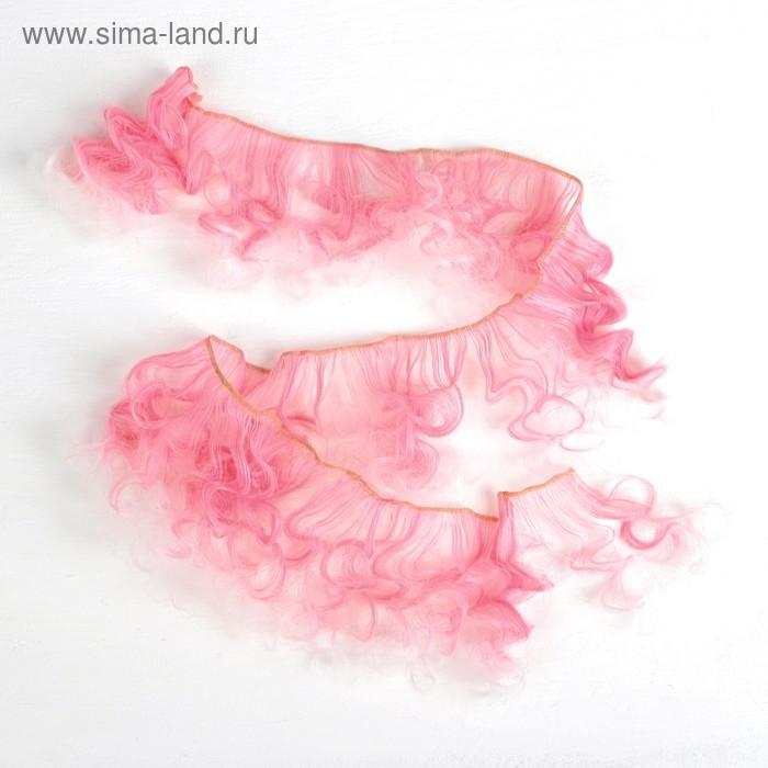 Волосы - тресс для кукол Кудри длина волос 15 см, ширина 100 см, №LSA018   3588519