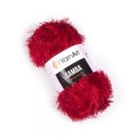 Пряжа YarnArt Samba (2026 красный)