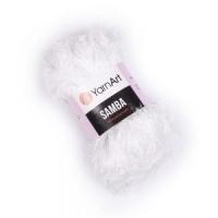 Пряжа YarnArt Samba (01 белый)