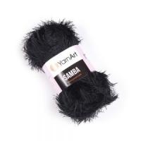 Пряжа YarnArt Samba (02 черный)