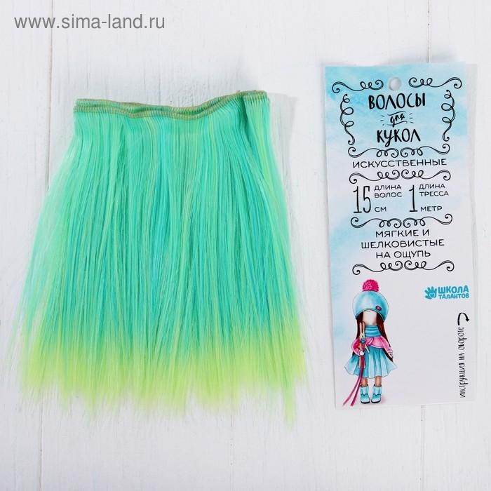 Волосы - тресс для кукол Прямые длина волос 15 см, ширина 100 см, №LSA049   3588450
