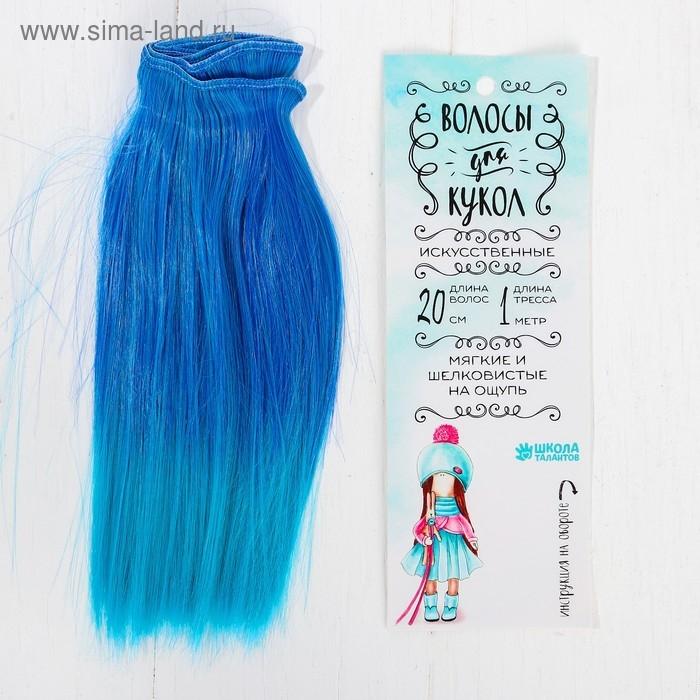 Волосы - тресс для кукол Прямые длина волос 20 см, ширина 100 см, №LSA039   3588471