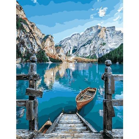 Картина по номерам GX 29450 У горного озера 40х50 см