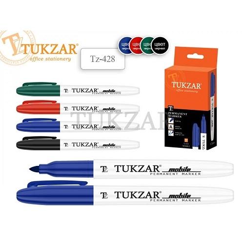 Маркер перманентный черный TUKZAR для CD/DVD пулевидный острый наконечник 1 мм