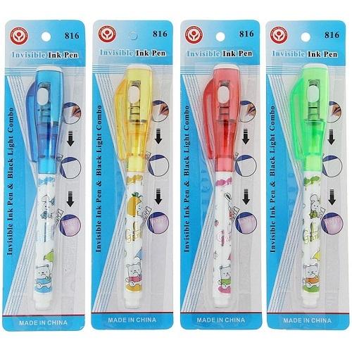 Ручка-ШПИОН/невидимые чернила + ультрафиолетовый фонарик