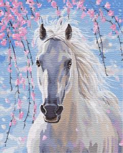 Картина по номерам GX8528 Белогривая лошадка