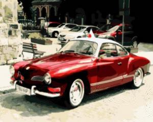 Картина по номерам GX8909 Красный ретро-автомобиль