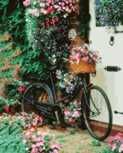 Картина по номерам GX8931 Велосипед с цветами