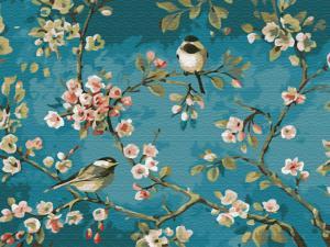 Картина по номерам EX5878 Яблоня в цвету