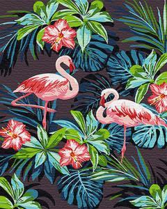 Картина по номерам GX26535 Фламинго в цветах
