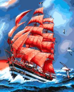 Картина по номерам GX8794 Парусник Америго Веспуччи.