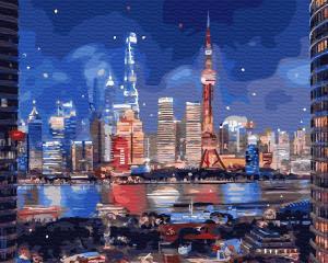 Картина по номерам GX31841 Неоновый город