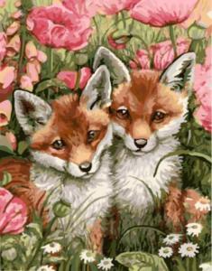 Картина по номерам GX9546 Лисички-сестрички