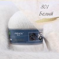 Пряжа Пух норки (Long mink wool) (801 белый)