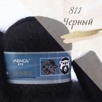 Пряжа Пух норки (Long mink wool) (811 черный)
