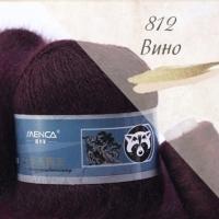 Пряжа Пух норки (Long mink wool) (812 вино)