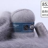 Пряжа Пух норки (Long mink wool) (852 серый)