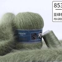 Пряжа Пух норки (Long mink wool) (853 фисташка)