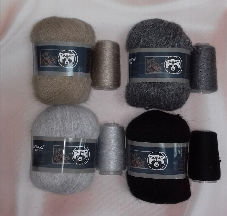 Пряжа Пух норки (Long mink wool)