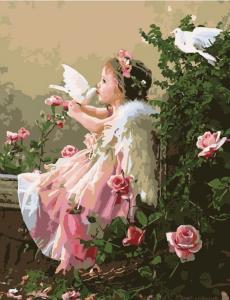 Картина по номерам MG518 Поцелуй ангела