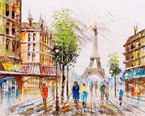 Картина по номерам MG2163 Париж в лучах света