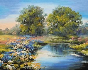 Картина по номерам MG2415 Летняя река