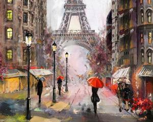 Картина по номерам MG2160 Париж под дождем