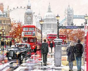 Картина по номерам MG2204 Прогулка по Лондону
