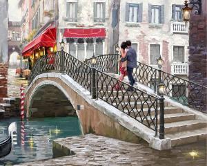 Картина по номерам MG2205 Городской мост