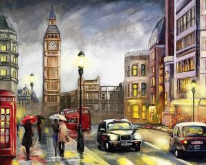 Картина по номерам MG2162 Красочный Лондон