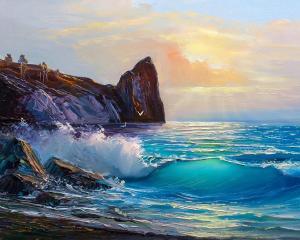 Картина по номерам MG2169 Береговые ландшафты